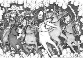 The Five Horsemen by akabeko