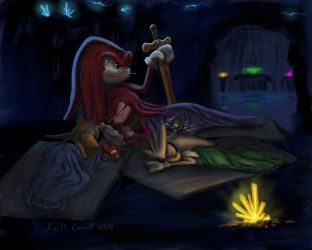 Angels sleeping at my feet by NetRaptor