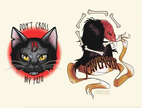 Tattoo designs by Crowtesque