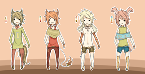 .:Adoptables - Kemonomimi Set:. CLOSED by Chi-Adopts-Yo