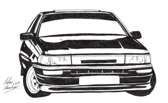 Toyota Corolla Gt Coupe AE86 by aidan8500