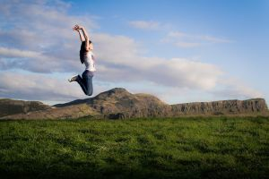 Jump... over Holyrood Park by Fr34kZ
