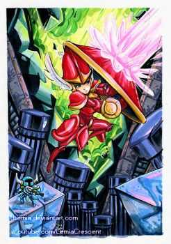 Copic Marker Shield and Shovel Knight by LemiaCrescent