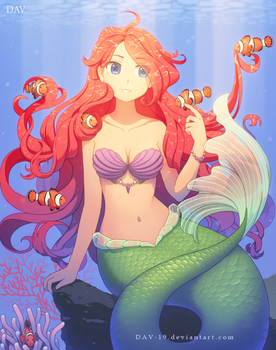 Ariel and Clown Fishes by DAV-19