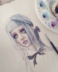 Cry Baby Coloring Process by EnysGuerrero