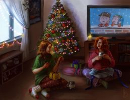 Christmas Morning (COMMISSION) by CelticBotan