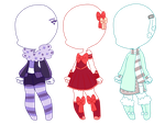 .:Adopts:. Outfit Adopts (CLOSED) by Pastel-Nights