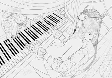 Piano Lessons by cryptfever