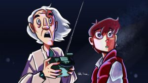 Back to the future Screenshot remake by Sketchmazoid