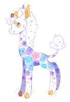 New feral sona!!! D. Lite by feltstickers