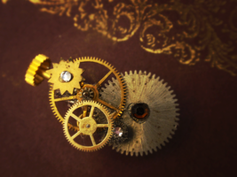 Gear Pin, Closeup by GildedGears