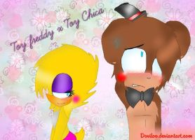 Toy Freddy x Toy Chica [FNaF] by DoviLoo