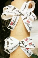 Minnie Mouse Hair Ties by wolf-girl87