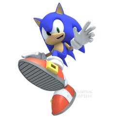 .: ANNIVERSARY : A Really Cool 3D Blue Boi :. by ZKCats