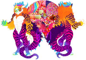 SOLD - Rainbow Tiger Dragon by gatorstooth