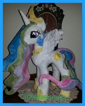 mlp happy Princess Celestia Day Plushie by CINNAMON-STITCH