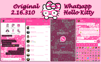Hello Kitty Whatsapp for Android by LadyPinkilicious