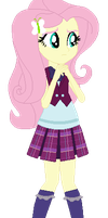 Fluttershy in Crystal Prep by Cleofine123