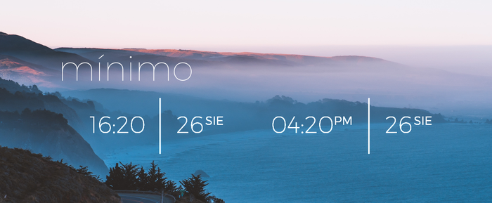 Minimo for Rainmeter (MULTI/12H/24H) by TheRockyDoo
