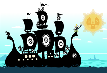 Patapon 2 Promotional Boat Wallpaper (Fanmade) by Fabierex2000
