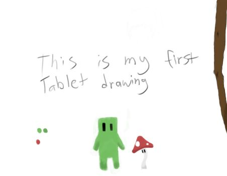 First tablet drawing by owned645