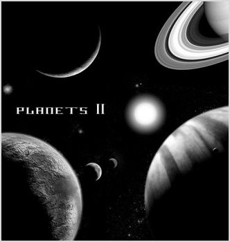 Planets II - Photoshop Brushes by Sunira