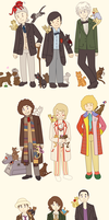 All the Doctors + Their Companions As Cats by AlsTheMighty