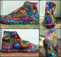 Sharpie Converse 1 by KalieMONSTER