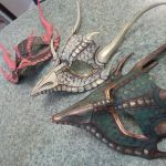 WiP Triplet Dragon Masks by Angelic-Artisan