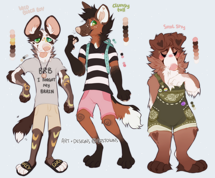 Anthro pups | 1/3 open by LOSTOWNS