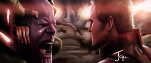 [SPOILERS] Infinity War | Thanos vs Star-Lord by JayArt16
