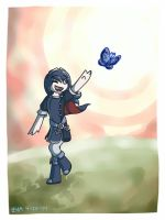 Butterfly Chase by evaceratops