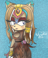 La madre de Huntress: Aphrodite the cat by MerlinaArt0132