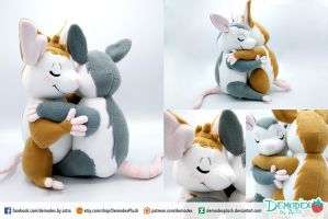 Hugging Opossum Plush by DemodexPlush