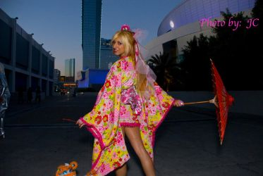 Kimono city lights night shot by MyCosPlayPhotos