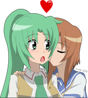 Rena Kisses Mion by Zero-Q