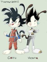 DragonBall Z Goku and Vegeta Warner Style by TheMysticalArtist