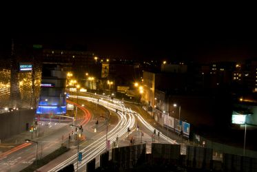 Leicester at Night 2 by AdamLC
