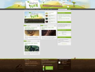 Living Tuts webdesign by DesignSpartan
