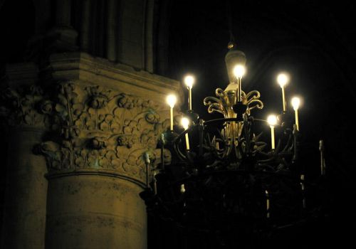 Chandelier, Notre Dame by telophase