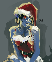 Christmas (Dark) Elf by Kwerp