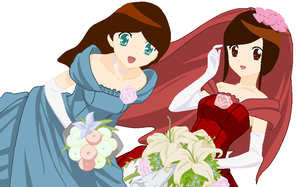 My Wedding and my bridemaid XD by Englandfan563