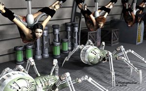 Robot Spider Attack 4 : Test Subjects 05 of 12 by LithographicDan