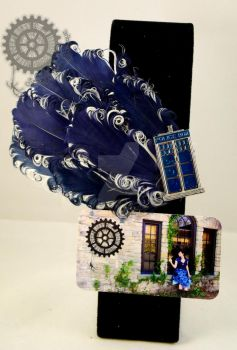 TARDIS Feathered Fascinator by Spooky-Elric