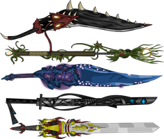 Top 5 of my PowerPoint AQW Weapons by ShadowSeeker258