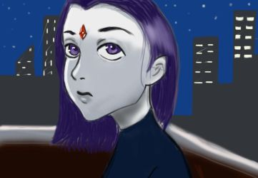 Raven On Roof Top by NinjaGirl101