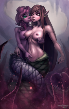 Lamia twins by Anchorxx
