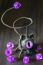 Steampunk Caticorn with purple eye by CatherinetteRings