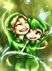 Link and Saria by ClassicalNocturne