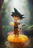 Goku Fan Art by ArtVStudio